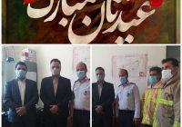 بازدید نوروزی شهردار پارس آباد از واحد آتش نشانی و خدمات ایمنی