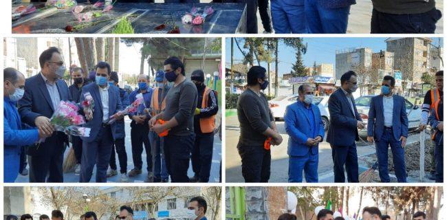 دیدار نوروزی شهردار پارس آباد با کارگران واحد خدمات شهری