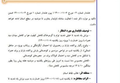 هشدار سطح نارنجی هوا در مشهد
