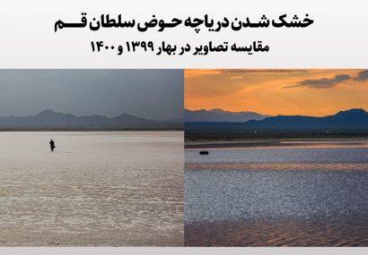 خشک شدن کامل دریاچه حوض سلطان قم