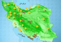 وضعیت هوا در اردبیل دوشنبه ۵ مهر ۱۴۰۰